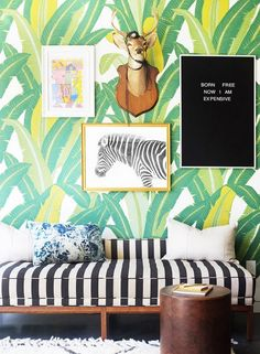 It could be the call of vacation or simply the call of the wild, but this botanical gallery wall speaks to me. A little bit safari, a little more tropical, and a touch whimsical: Now, who...