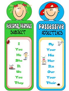 English teacher: Subject Pronouns and Possessive Adjectives