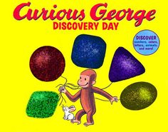 See what George discovers—letters, shapes, numbers, sounds, colors, time, senses—and learn right along with him in this interactive book with touch-and-feel surprises, flaps, pull tabs, wheels, and foldouts! This book is chock-full of fun and games for the youngest readers! #StayCurious