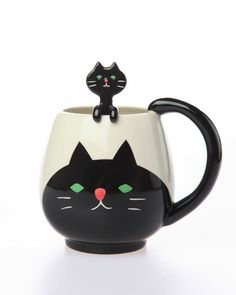Black Cat Cup & Spoon Set