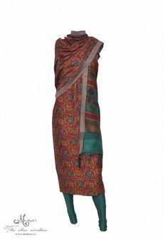 Pretty printed pashmina suit