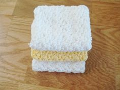 Hand Crocheted Washcloths/Dishcloths, 100% Cotton, Reusable - pinned by pin4etsy.com