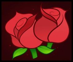 Flowers - How to Draw Roses for Kids