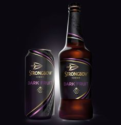 Launching next month, is an exciting new Dark Fruit variant from Strongbow, the UK's biggest selling cider brand with packaging designed by international brand design agency Bulletproof. Beverage Packaging, Bottle Packaging, Fruit Packaging, Product Packaging, Fruit Drinks, Alcoholic Drinks, Fruit Fruit, Cocktails, Tequila