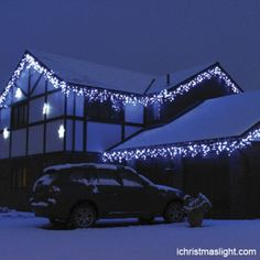 Outdoor House Decorative Led Icicle Lights Christmas Holiday
