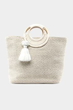 The Kassidy Jute Circle Handle Tote makes the perfect addition to your vacation wardrobe. Vacation Wardrobe, Sales And Marketing, Jute, Straw Bag, Jewelry Accessories, Handle, Jewels, Handbags, Boho