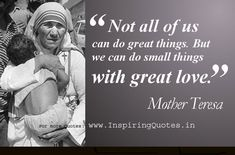 Excellent Quotations by Mother Teresa