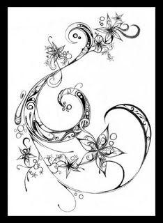 swirly tattoo