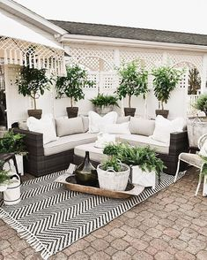 outdoor rooms So it's been about a week since I announced the reveal of our back patio makeover over on the Home Depot website. Back Patio, Backyard Patio, Backyard Landscaping, Backyard Ideas, Landscaping Ideas, Private Patio Ideas, Patio Oasis Ideas, Patio Set Up, Front House Landscaping