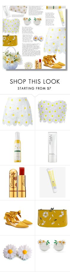 """""""Meet your Match (daisy) - Contest!"""" by sarahguo ❤ liked on Polyvore featuring Dolce&Gabbana, Klorane, NARS Cosmetics, Bésame, Kate Spade, Sam Edelman, Hermès, Cara Accessories, Sonix and Doubletrouble"""