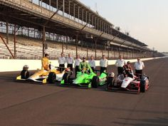 Indy 500 front row, well done guys!