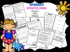 *Blackline Version *This 5th grade blackline interactive journal is aligned to Common Core and to the McGraw Hill Wonders series for Unit 1-Week 2. This highly INTERACTIVE journal is ideal for teaching all of this week's skills in a powerful, student-friendly way!