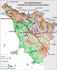 Via Francigena in Tuscany, Italy