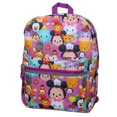Disney Tsum Tsum16 inch Backpack  Stack on Stacks -- Want additional info? Click on the image.