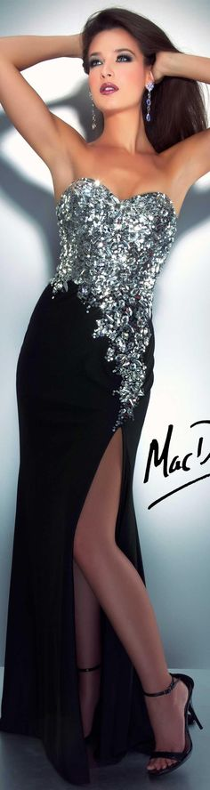 Mac Duggal couture dress black CASSANDRA STONE STYLE