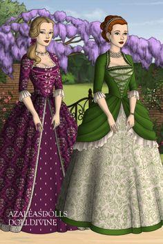 Rococo Ballgowns 1 by shawneegirl22 ~ The Tudors Historical Dress Up