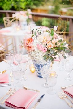 Read More: http://www.stylemepretty.com/living/2014/11/20/backyard-celebration-in-layers-of-pink/