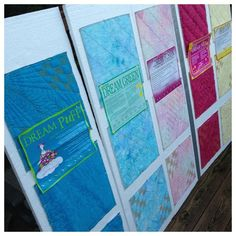 Post reviews six different Quilters Dream Battings. See how to turn your batting samples into a book for future reference.
