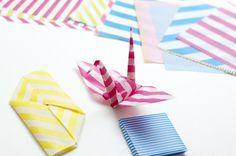 Stripey origami