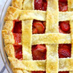 strawberry rhubarb pie  Recipe on Food52 recipe on Food52