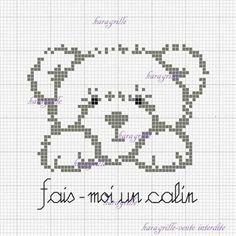 Crochet Cross, Crochet Teddy, Cross Stitch Pictures, Free Cross Stitch Charts, Cross Stitch Heart, Cross Stitch Animals, Cross Stitch Patterns, Embroidery Needles, Cross Stitch Embroidery