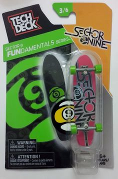 98e6bd901e3 Tech Deck Sector Nine 3 6 FUNdamentals Series 96mm Fingerboard