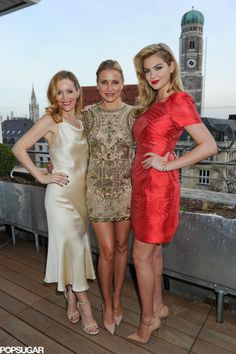 Leslie Mann, Cameron Diaz, and Kate Upton in Munich.