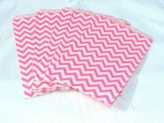100 Pink color Chevron 6x9 inch Treat Bags Striped Food Gourmet bags Goody bags Wedding Party Favor Colored Candy Bags Food safe Cute #Pink #Wedding #PinkWedding #Paper