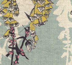 Foxglove - fabric wallpaper