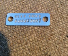 Trainer tag or mini I'd bracelet tag, great for wrap bracelets with hand dyed silk ribbon