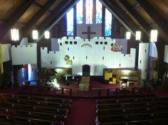 My dad built this castle for my church! He rocks! Cokesbury UMC Pensacola, FL~ Kingdom Rock VBS 2013
