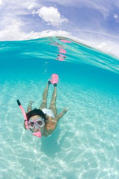 love the pink ~Snorkeling The Beautiful Blue!!~ (by *michael sweet*, via Flickr)