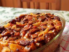 gotuj się do gotowania!: Prosta i szybka zapiekanka makaronowa z kiełbasą