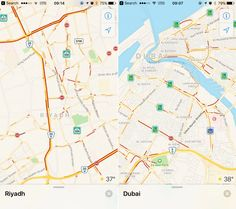 Apple has updated its Maps app with traffic data for major metropolitan areas in Saudi Arabia and the United Arab Emirates. Apple Maps, Ios Apple, United Arab Emirates, Saudi Arabia, News, Live