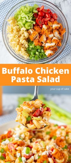 This pasta is AMAZING! Easy Buffalo Chicken Pasta Salad and it's easy to make too! This pasta is AMAZING! Easy Buffalo Chicken Pasta Salad and it's easy to make too! Buffalo Chicken Pasta Salad, Chicken Pasta Salad Recipes, Healthy Pasta Salad, Best Pasta Salad, Easy Pasta Salad Recipe, Spinach Salad Recipes, Summer Pasta Salad, Easy Salads, Healthy Salad Recipes