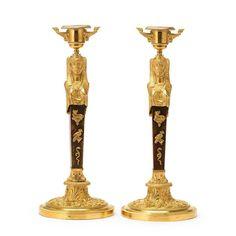 Par de casticais Franceses Imperio do inicio do sec.19th em bronze gilded a ouro, 32cm de altura, 47,880 USD / 43,060 EUROS / 172,840 REAIS / 314,270 CHINESE YUAN soulcariocantiques.tictail.com
