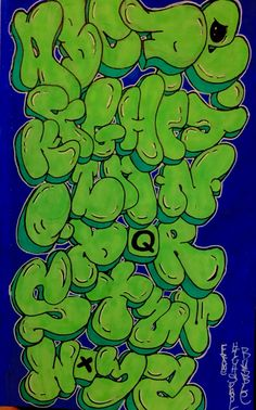Graffiti alphabet Mais Graffiti Lettering Alphabet, Graffiti Text, Graffiti Words, Tattoo Lettering Fonts, Best Graffiti, Graffiti Tagging, Graffiti Drawing, Graffiti Murals, Lettering Styles