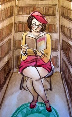 Sarah Bester Illustration: A Bookworm and a Witch