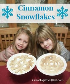 fold shell in quarters, cut out as snowflake form,  place on cookie sheet, spray with cooking spray or brush with melted butter and sprinkle with cinnamon sugar.  bake 350 degrees 5-10 minutes.  note: do something similar cut the tortilla the same but cook it in oil and dust it with powdered sugar. The kids love them and they look just like snowflakes.  http://www.cometogetherkids.com/2011/01/cinnamon-snowflakes.html?m=1