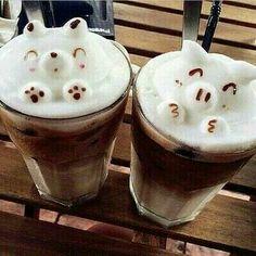 Creative Latte and Coffee Art Designs Tea Recipes, Coffee Recipes, Sweet Recipes, Coffee Latte Art, I Love Coffee, Coffee Break, Coffee Time, Coffee Tumblr, Aesthetic Coffee