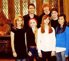 Emma Watson, Matthew Lewis, Evanna Lynch, Bonnie Wright, Rupert Grint, Daniel Radcliffe, Katie Leung