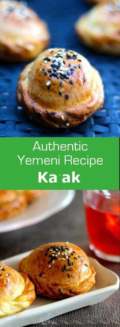 Ka'ak is a traditional Yemeni brioche but it also defines different bakery or pastry recipes available in the Arab world. Ingredients 5 cups flour 1 c. Pastry Recipes, Gourmet Recipes, Dessert Recipes, Cooking Recipes, Arabic Sweets, Arabic Food, Arabic Dessert, Pavlova, Cheesecakes