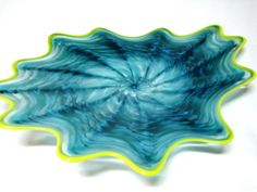 Hand Blown Glass Art Platter - Bowl - Wall Hanging #142 - American