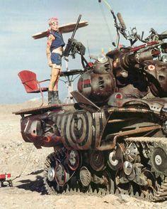 tank girl with her tank and big ass guns Tank Girl Comic, Tank Girl Film, Tank Girl Cosplay, Steampunk Movies, Science Fiction, Videogames, Jet Girl, Diy Tank, Diy Shirt