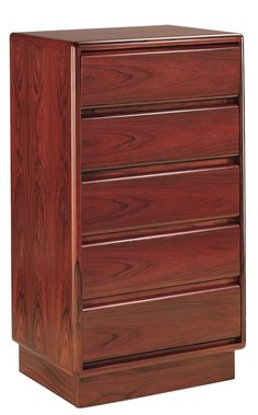 Mobican Prestigia contemporary wood bedroom narrow chest with 5 drawers Danish House, Wood Bedroom, Scandinavian Furniture, Bedroom Storage, Timeless Design, Storage Spaces, Teak, Drawers, Contemporary