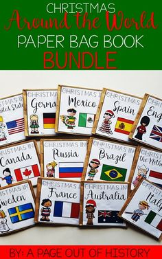 This Christmas around the world paper bag book bundle is full of fun and engaging social studies resources for the month of December! It covers popular Christmas traditions and customs in countries all over the world!