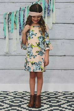 Kids Floral Lined Bell Sleeves Dress – UOIOnline.com: Women's Clothing Boutique