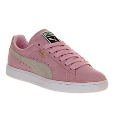Classic Puma Suede - Pastel Pink and White