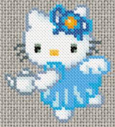 31/07/11 : Grille de point de croix gratuite - Hello Kitty