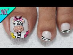 Animal Nail Art, Pedicure, Nails, Youtube, Designed Nails, Vestidos, Pretty Toe Nails, Simple Toe Nails, Pretty Pedicures